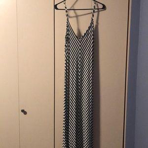 Women's Black & White Maxi Dress